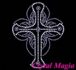 Cross rhinestone motif