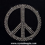 Top sell design peace cross rhinestone motif