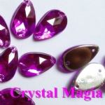 purple drop crystal stone for sewing