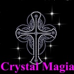 bling bling rhinestone sideways cross