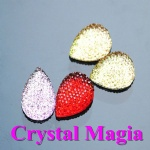 colorful tear drop sew on rhinestone for garment