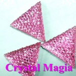 hot sell sew on strass, flat back strass triangle stones