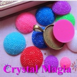 round shape resin stones for iphone decoramtion