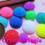 many color round shape resin flat back strass