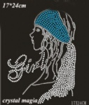 fashion girl strass motif
